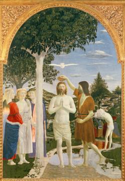 Baptême christ francesca della piero