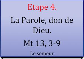 Etape 4 Dieu crée par sa parole 1