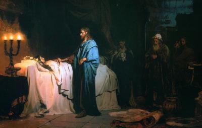 La resurrection de la fille de jaire par ilya repine