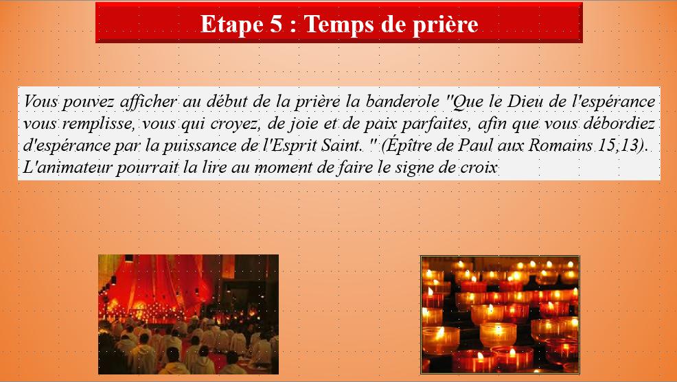 Temps de prière étape 5